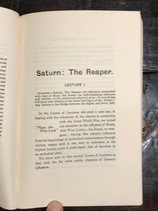 SATURN Alan Leo Ruler First House Zodiac Planetary Reaper 1970 Astrology Occult
