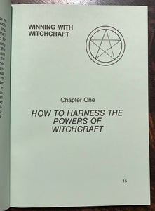 WINNING WITH WITCHCRAFT - Williams (Finbarr), 1st Ed 1982, GRIMOIRE MAGICK WICCA