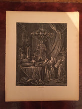 GUSTAVE DORE — RARE, Original FAIRY TALES RETOLD BY PERRAULT Wood Engraving 1870