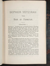 SEPHER YETZIRAH: THE BOOK OF FORMATION - WILLIAM W. WESTCOTT, 1950s - KABBALAH