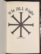 ISABEL M. HICKEY - IT IS ALL RIGHT, 1980 - SPIRITUAL ASTROLOGY PSYCHIC OCCULT