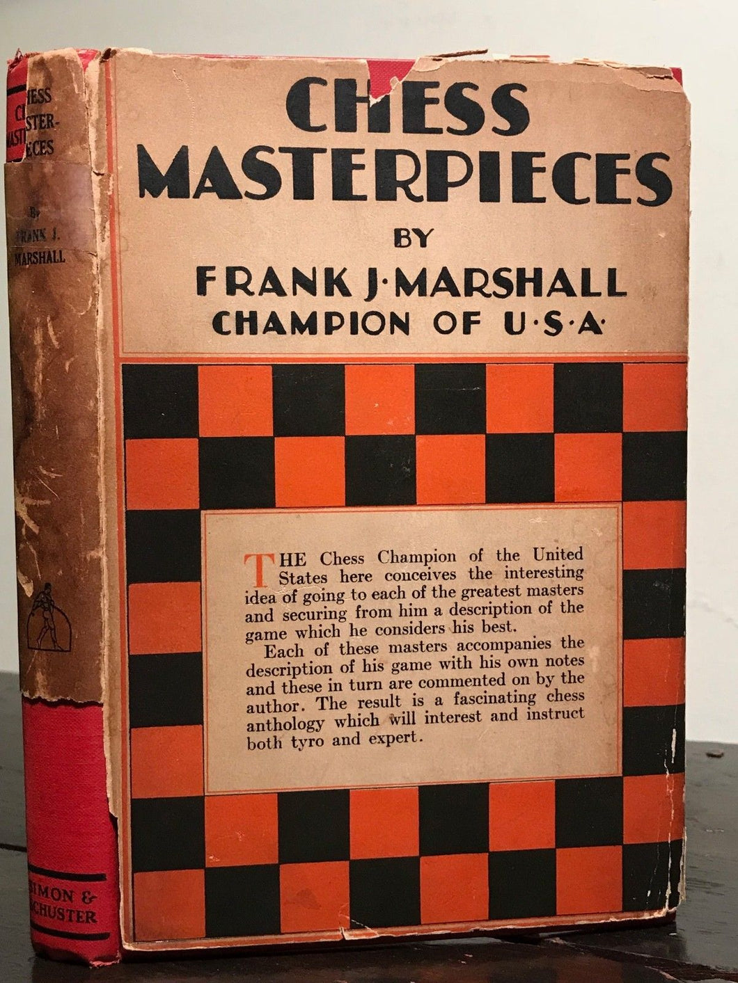 FRANK MARSHALL - CHESS MASTERPIECES, 1st/1st 1928 HC/DJ - CHESS MASTER