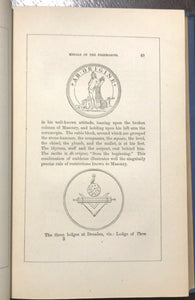 MASONIC SKETCH BOOK: MASONIC LITERATURE - 1st Ed, 1874 - FREEMASONRY MYSTERIES