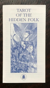 TAROT OF THE HIDDEN FOLK - 1st Ed, 2002 - FAIRY ELVES GNOMES CARDS DECK OOP