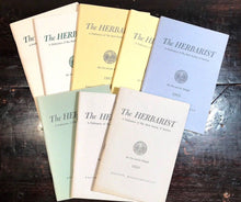 THE HERBARIST: THE HERB SOCIETY OF AMERICA - LOT OF 8, 1960-69 - NATURE, HERBALS