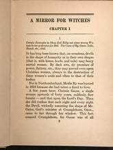 A MIRROR FOR WITCHES; Esther FORBES 1st/1st 1928 SALEM WITCH TRIALS, Illustrated