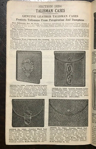 1920s VERY RARE DE LAURENCE OCCULT CATALOG - THE MASTER KEY & ADVERTISEMENTS