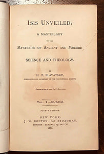 ISIS UNVEILED - H.P. BLAVATSKY - Complete 2 Vols, SCARCE 1878 - OCCULT MYSTICISM