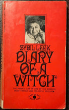 DIARY OF A WITCH by Sybil Leek, 1969 - WICCA WITCHCRAFT MAGICK DIVINATION