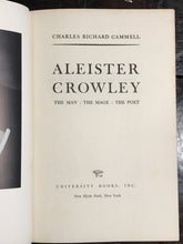 ALEISTER CROWLEY: The Man The Mage The Poet, Charles Cammell 1st/1st 1962 OCCULT