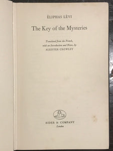 ALEISTER CROWLEY — THE KEY OF THE MYSTERIES, Eliphas LEVI, 1st/1st 1959 GRIMOIRE