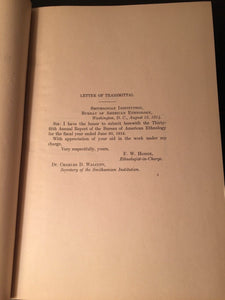 35th ANNUAL REPORT OF BUREAU OF AMERICAN ETHNOLOGY 1913-14, Pt. I, F. Boas 1921