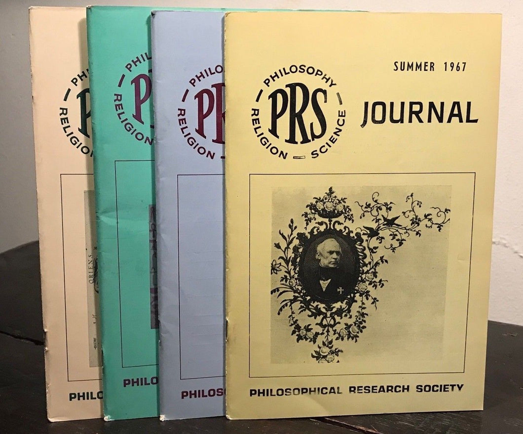 MANLY P. HALL, PHILOSOPHICAL RESEARCH SOCIETY JOURNAL - Full Year, 4 Issues 1967