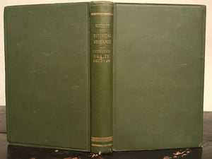 1893-1894 - SOCIETY FOR PSYCHICAL RESEARCH - FAIRIES SPIRITS PSYCHIC MAGIC
