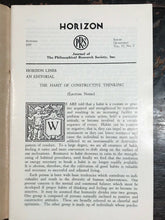 MANLY P. HALL - HORIZON JOURNAL - Full YEAR, 4 ISSUES, 1957 - PHILOSOPHY OCCULT