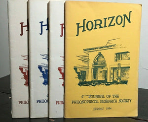 MANLY P. HALL - HORIZON JOURNAL - Full YEAR, 4 ISSUES, 1954 - PHILOSOPHY OCCULT