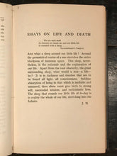 ESSAYS ON LIFE AND DEATH - Heugel, 1st Ed - OCCULT ASTROLOGY MUSIC NUMEROLOGY