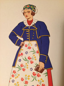 NATIONAL COSTUMES Lepage-Medvey, 1939 1st Edition — POCHOIR PRINTS, Austria Etc