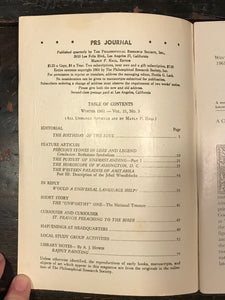 MANLY P. HALL, PHILOSOPHICAL RESEARCH SOCIETY JOURNAL - Full Year, 4 Issues 1961