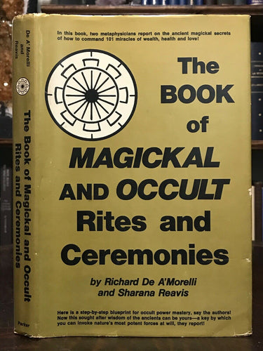 BOOK OF MAGICKAL AND OCCULT RITES, CEREMONIES - 1st 1980 - GRIMOIRE WITCHCRAFT