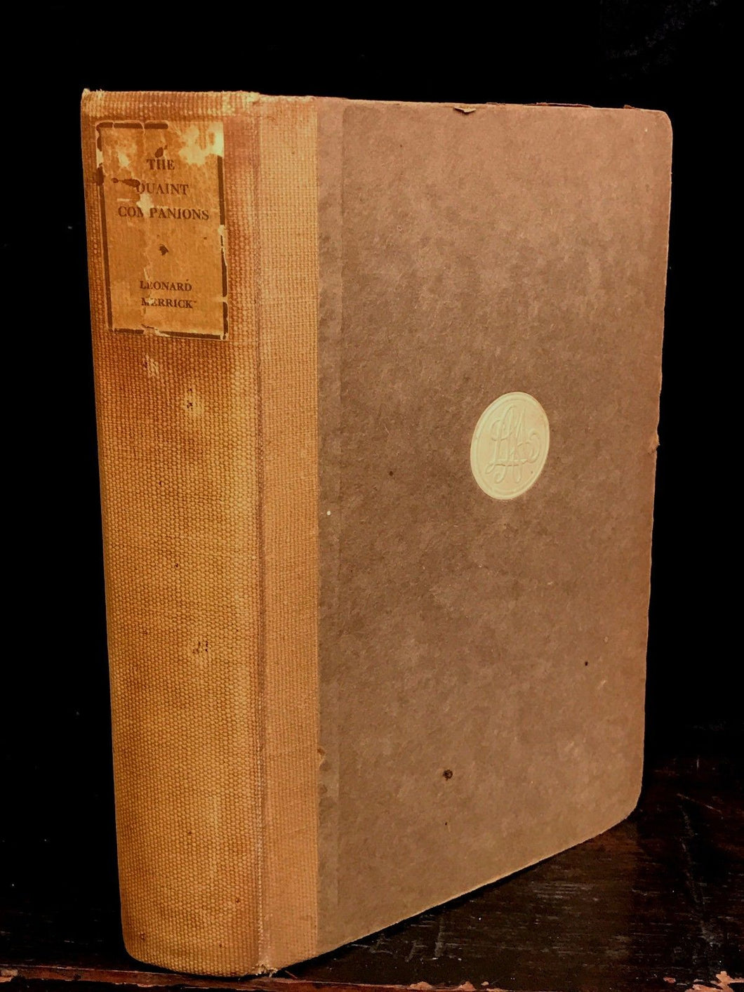 THE QUAINT COMPANIONS, LEONARD MERRICK ~ Limited Ed. of 1500, 1924 ~ H.G. Wells