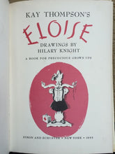 ELOISE by KAY THOMPSON, 1st Edition 3rd Printing,1955, HC/DJ, $2.95 Price on DJ