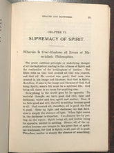 CHRISTOLOGY: SCIENCE OF HEALTH & HAPPINESS - Sabin, 1910 - METAPHYSICAL HEALING