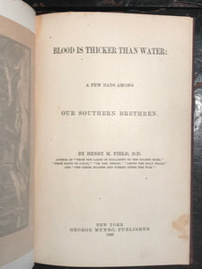 1886 - BLOOD IS THICKER THAN WATER - Civil War Reconstruction Letters, 1st/1st
