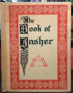 BOOK OF JASHER, SACRED BOOK OF THE BIBLE - 1948 ROSICRUCIAN AMORC MAGIC JEWS