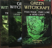 GREEN WITCHCRAFT - COMPLETE 3 Vol SET 1st Ed, ANN MOURA - WICCA NATURAL MAGICK