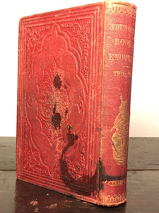 YOUNG MAN'S BOOK OF KNOWLEDGE by Thomas Tegg — 1st / 1st, 1860 PIRATED COPY