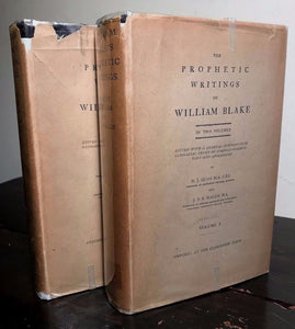 PROPHETIC WRITINGS OF WILLIAM BLAKE, Sloss, Wallis ~ 1st/1st 1926 HC/DJ, 2 Vols