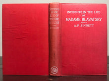 1913 - INCIDENTS IN THE LIFE OF MADAME BLAVATSKY - A.P. SINNETT THEOSOPHY OCCULT