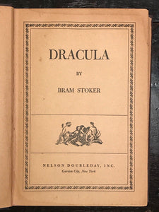 DRACULA by Bram Stoker - 1930 - Nelson Doubleday, Garden City, SCARCE