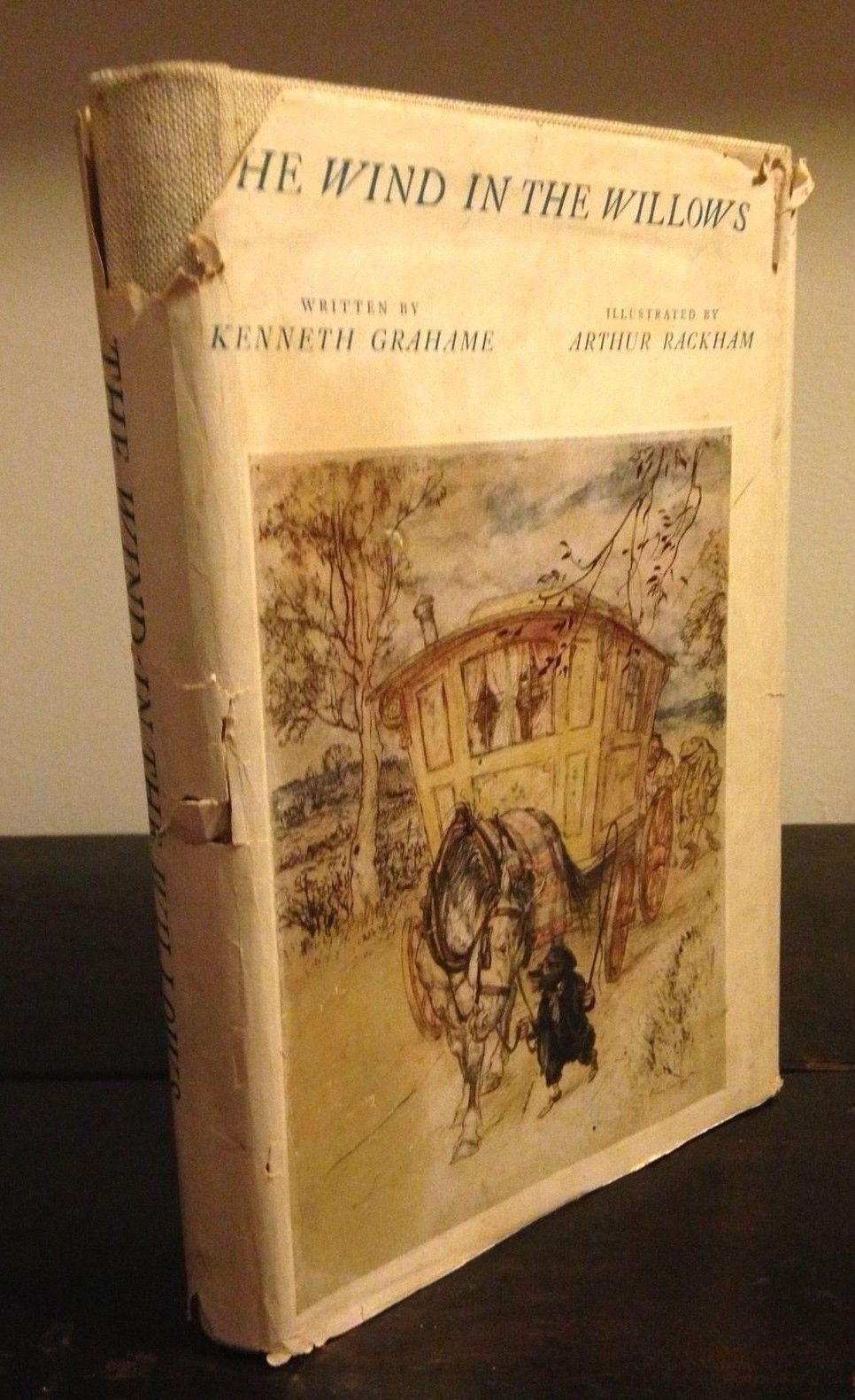 THE WIND IN THE WILLOWS Kenneth Grahame / ARTHUR RACKHAM, Intro MILNE 1952 HC/DJ