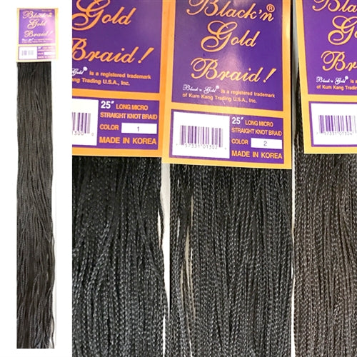 "3 Pack Value Deal - 25"" Micro Straight Knot braids"