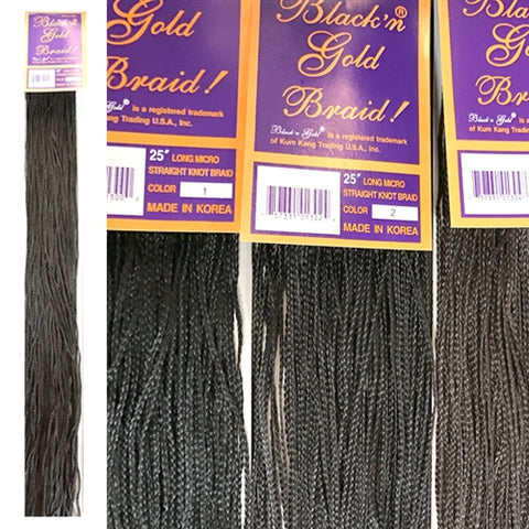 "5 Pack Value Deal -  25"" Micro Straight Knot braids"