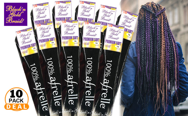 10 Pack Value Deal - Premium Soft Pre Stretched 2oz. Braiding Hair