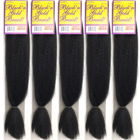 5 Pack Deal - Classic Braids 2oz. Kanekalon Synthetic Jumbo Braiding Hair
