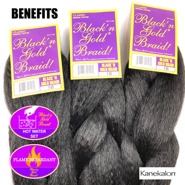 5 Pack Value Deal - Classic Braids 3oz. Kanekalon Synthetic Jumbo Braiding Hair