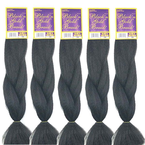 3 Pack Value Deal - Classic Braids 3oz. Kanekalon Synthetic Jumbo Braiding Hair