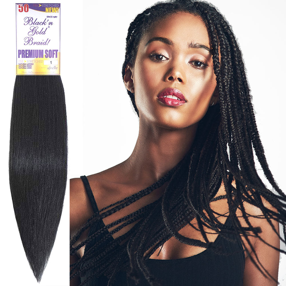 Premium Soft Pre Stretched 2oz. Braiding Hair