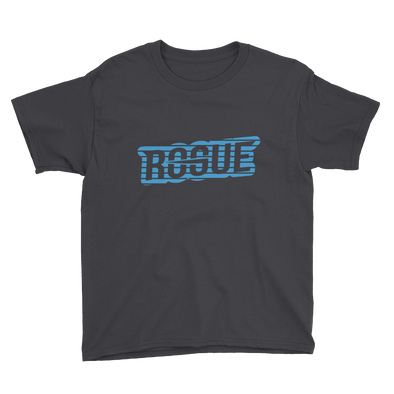 Striped Text Youth T-Shirt - Black - Rogue Official Shop