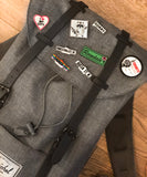 Canadian iron on patches used on Hershel backpack