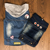 Canada iron on patches on denim vests for dogs