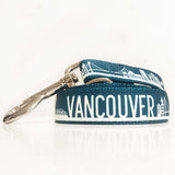The vancouver leash from Bone and Bred in teal and silver