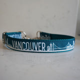 Vancouver collar in the teal chain martingale style