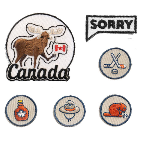 Canadian iron on patch bundle from Bone and Bred