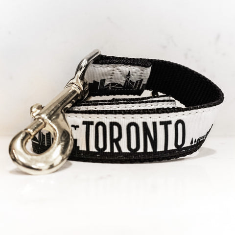 Toronto Leash - Black + Silver