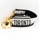 Toronto Leash - Black + Gold